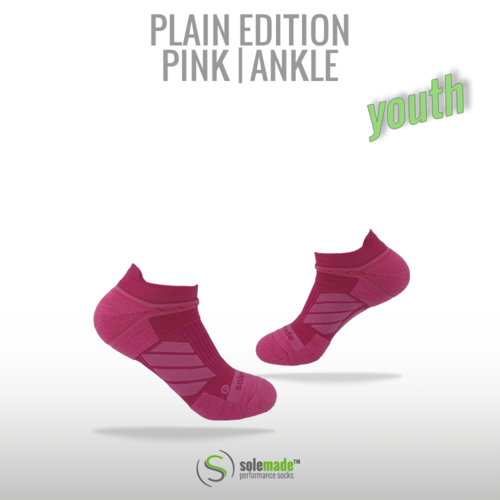 Plain Pink | Ankle | Youth