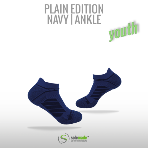 Plain Navy/Blue | Ankle | Youth