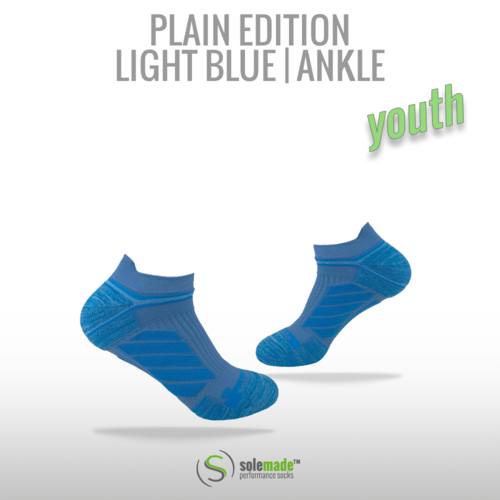 Plain Light Blue | Ankle | Youth
